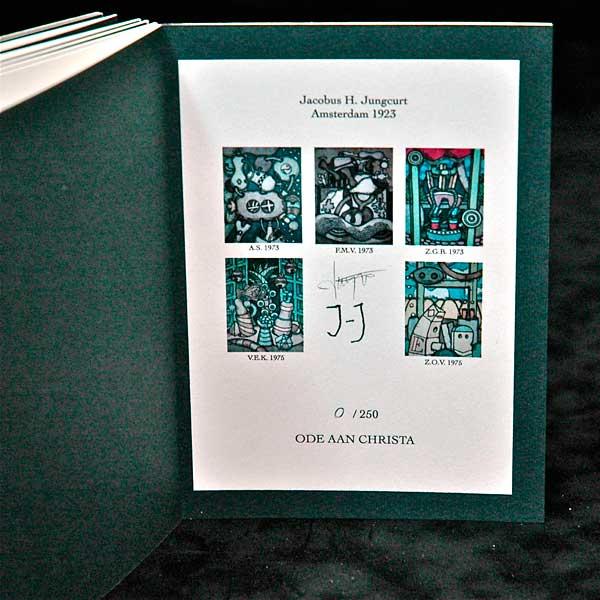Handmade Limited Edition /  Ode aan Christa / Jaap Jungcurt / Boekbinderij Seugling Amsterdam