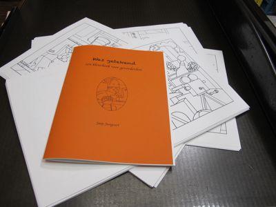 Was getekend Jaap Jungcurt een kunstenaars  kleurboek voor gevorderden Limited Edition Boekbinderij Seugling